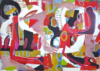 """In Bewegung"" 100 x 140 cm 